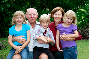 reverse mortgage couple with grandkids
