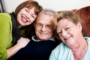 reverse mortgage couple with daughter