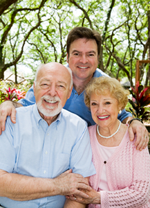 reverse mortgage couple with son